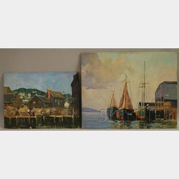 Robert Shaw Wesson (American, 1902-1967)      Lot of Two Harbor Views.