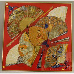 Framed Hermès Silk Brise de Charme Scarf
