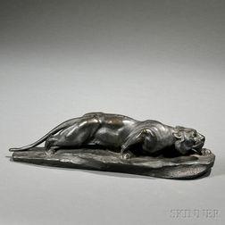 After Léon Bureau (French, 1866-1906)       Bronze Figure of a Panther