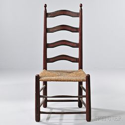 Painted Slat-back Side Chair