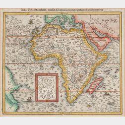 Africa. Sebastian Münster (1488-1552) Africa / Lybia / Morenlandt / mit allen Konigreichen / so jetziger zeit darumb gefunden werden.