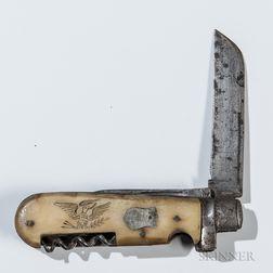 Carved Navy Pocketknife