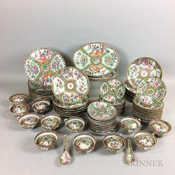 Extensive Group of Rose Medallion Porcelain Tableware