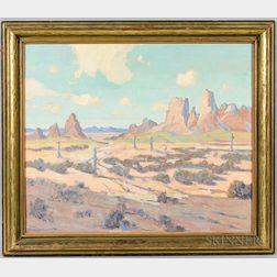 Harvey B. Coleman (California, 1884-1959)       Southwest Landscape
