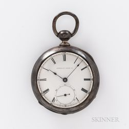 Coin Silver Civil War American Watch Co. Pocket Watch Identified to a Confederate Soldier from the 3rd Regiment Junior Reserves, 72nd N
