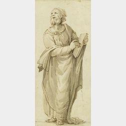 Northern Italian School, 18th Century    Standing Figure