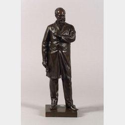 American Bronze Figure of President James A. Garfield