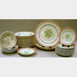 Thirty-five Pieces of Assorted Adams Calyx Ware Tableware