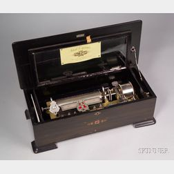 Ideal Excelsior Interchangeable Cylinder Musical Box by Mermod Freres