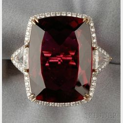 18kt Gold and Rubellite Ring