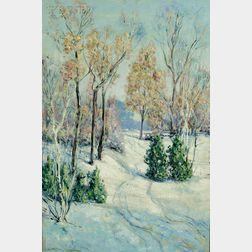 Frederick Mortimer Lamb (American, 1861-1936)      Tracks in the Snow