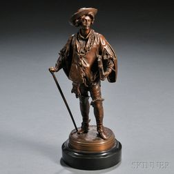 After Jean-Jules Salmson (French, 1823-1902)       Bronze Figure of Peter Paul Rubens
