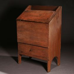 Shaker Wood Box over Drawer