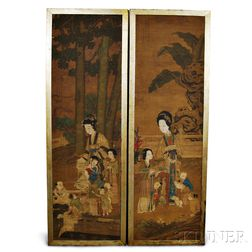 Two Tall Painted Panels