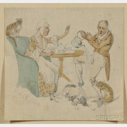 Alken, Henry (1785-1851) Original Signed Drawing.