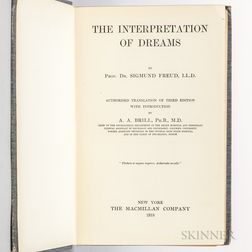 Freud, Sigmund (1856-1939) The Interpretation of Dreams.