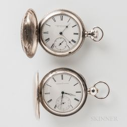 Two Coin Silver E. Howard & Co. Hunter-case Watches