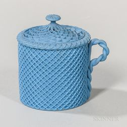 Wedgwood Solid Blue Jasper Custard Cup and Cover