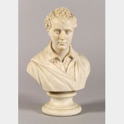 Staffordshire Parian Bust of Lord Byron