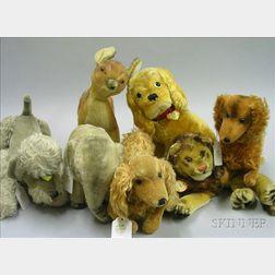 Seven Mohair Animals
