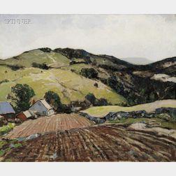 Hobart Nichols (American, 1869-1962)      Westchester Hills  /A New York Landscape