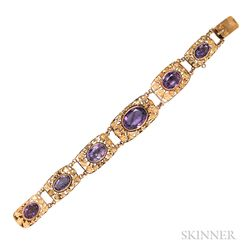 14kt Gold and Amethyst Bracelet
