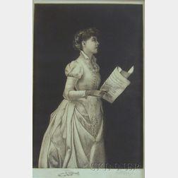 F. M. Spiegel (American, 1863-1942)      Two Portraits of Women: Gardening