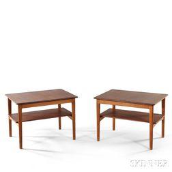 Two Hans Wegner Side Tables