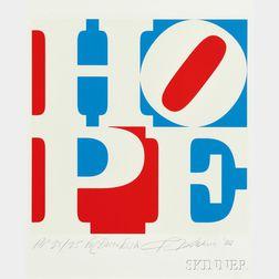 Robert Indiana (American, b. 1928)      Hope