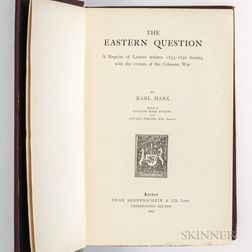 Marx, Karl (1818-1883) The Eastern Question.