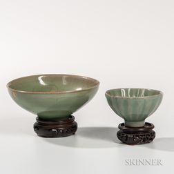 Two Small Celadon Bowls