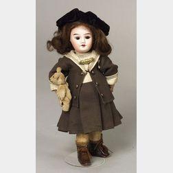 """SFBJ """"Bleuette"""" Bisque Head Girl Doll"""