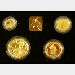 1991 United Kingdom Gold Proof Britannia Four Coin Collection