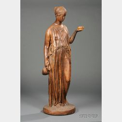 Large Terra-cotta Figure of Hebe after Canova