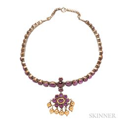 Gold and Ruby Necklace