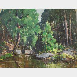 Robert Shaw Wesson (American, 1902-1967)      Quiet Stream.