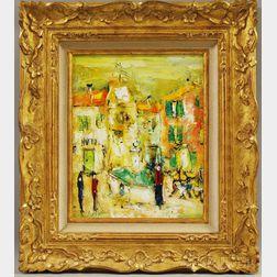 Roger di Blanco (French, b. 1948)      La Fontaine du Village