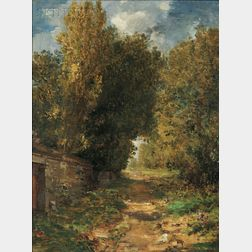 William Morris Hunt (American, 1824-1879)      A Country Lane