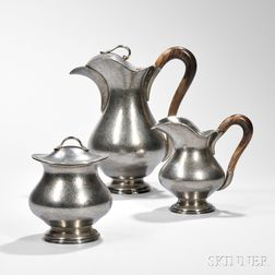 Three-piece Mario Buccellati Sterling Silver Coffee Service
