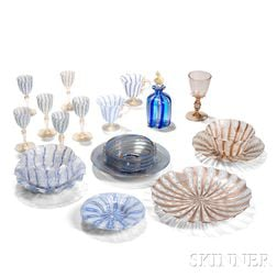 Nineteen Venetian Glass Items