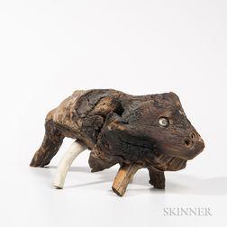 Jessie Aaron (Florida, 1887-1979)      Carved Root Animal