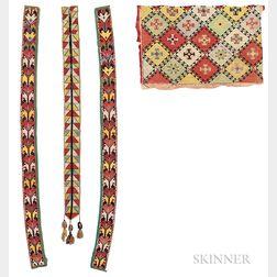 Four Pieces of Silk Tambour Needlework