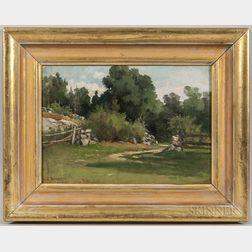 Edward Burrill Jr. (Massachusetts, 1835-1913)      Path Through the Fence