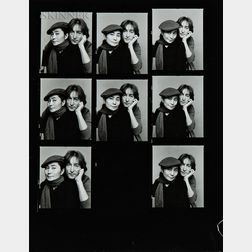 Jack Mitchell (American, 1925-2013)      Two Contact Sheets with Portraits of John Lennon and Yoko Ono