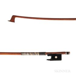 French Silver-mounted Violin Bow