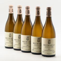Comtes Lafon Meursault Clos de la Barre 2007, 5 bottles