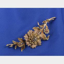 Antique Tri-color 14kt Gold Brooch