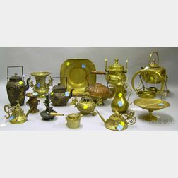 Approximately Sixteen Pieces of Asian and Continental Metalware