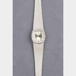 Lady's 18kt White Gold and Diamond Wristwatch, Longines