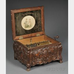 Carved Case Symphonium 12-inch Disc Musical Box